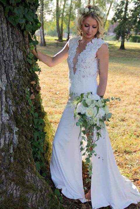 Robe de mariée sur mesure Justine Fectay